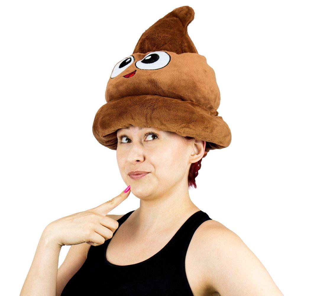3cdbf10db48 Amazon.com  Fiesta Toys Emoji Poop Plush Emoticon Hat - 12 Inches  Toys    Games