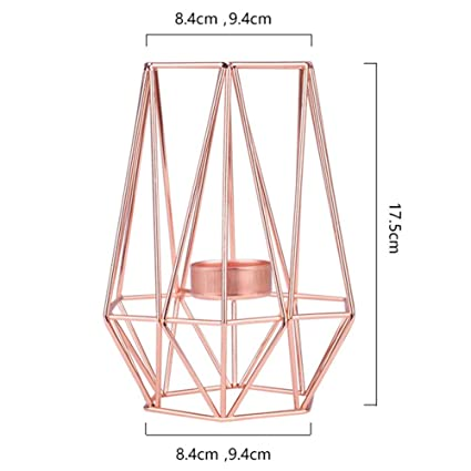 Buy Xuba Geometric Metal Candlestick Home Decor Rose Gold L Online
