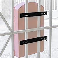 PrimeMatik - Brievenbus hek hek hek of schermen kit. 25 cm versterkte bevestigingsstangen
