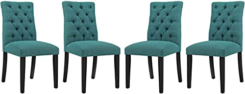 Modway Duchess Modern Tufted Button Upholstered Fabric Parsons Four Dining Chair