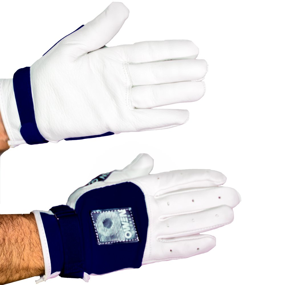 Owen Handball Gloves (Navy, Medium)