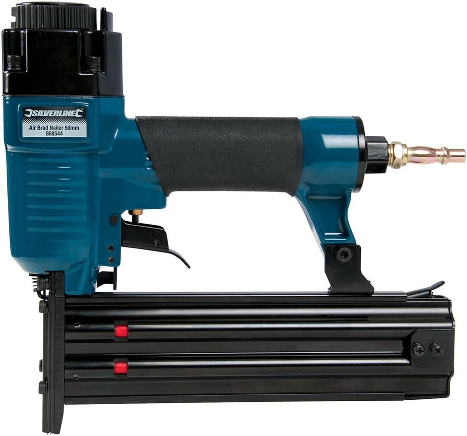 Silverline 868544 - Calavdora neumática 50 mm (Calibre 18)