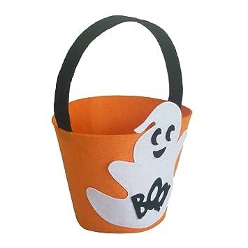 Amazon.com: Chitop Halloween – Bolsa de fieltro de tela de ...