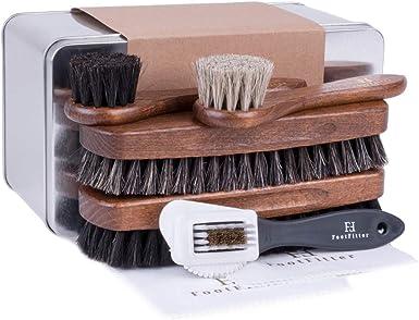 3//kit Leather Shoes Polish Kit Suede Brush Shine Cream Cloth Cleaner Set