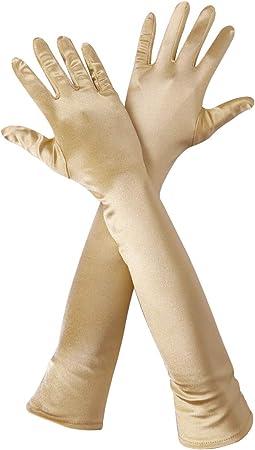 Women/'s Opera Length Party Bridal Dance Satin Dress Gloves