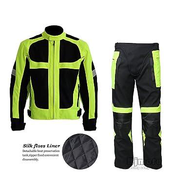 BJ Global - Traje protector de motociclista compuesto de chaqueta y pantalones de invierno, transpirables, con protección para la cadera: Amazon.es: Coche y ...