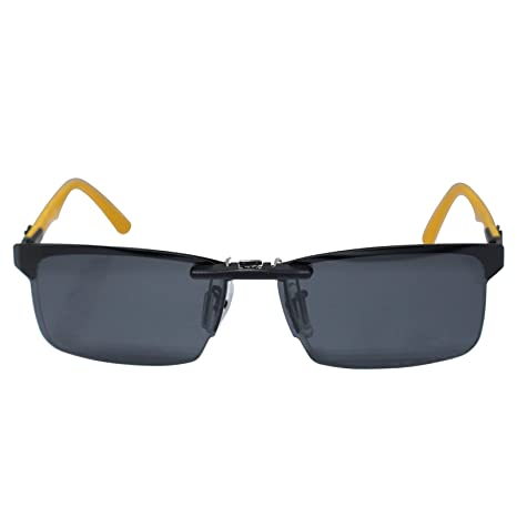 df14ce2c055 Custom Polarized Clip on Sunglasses For Ray-Ban RB8411 RX8411 Black - -  Amazon.com