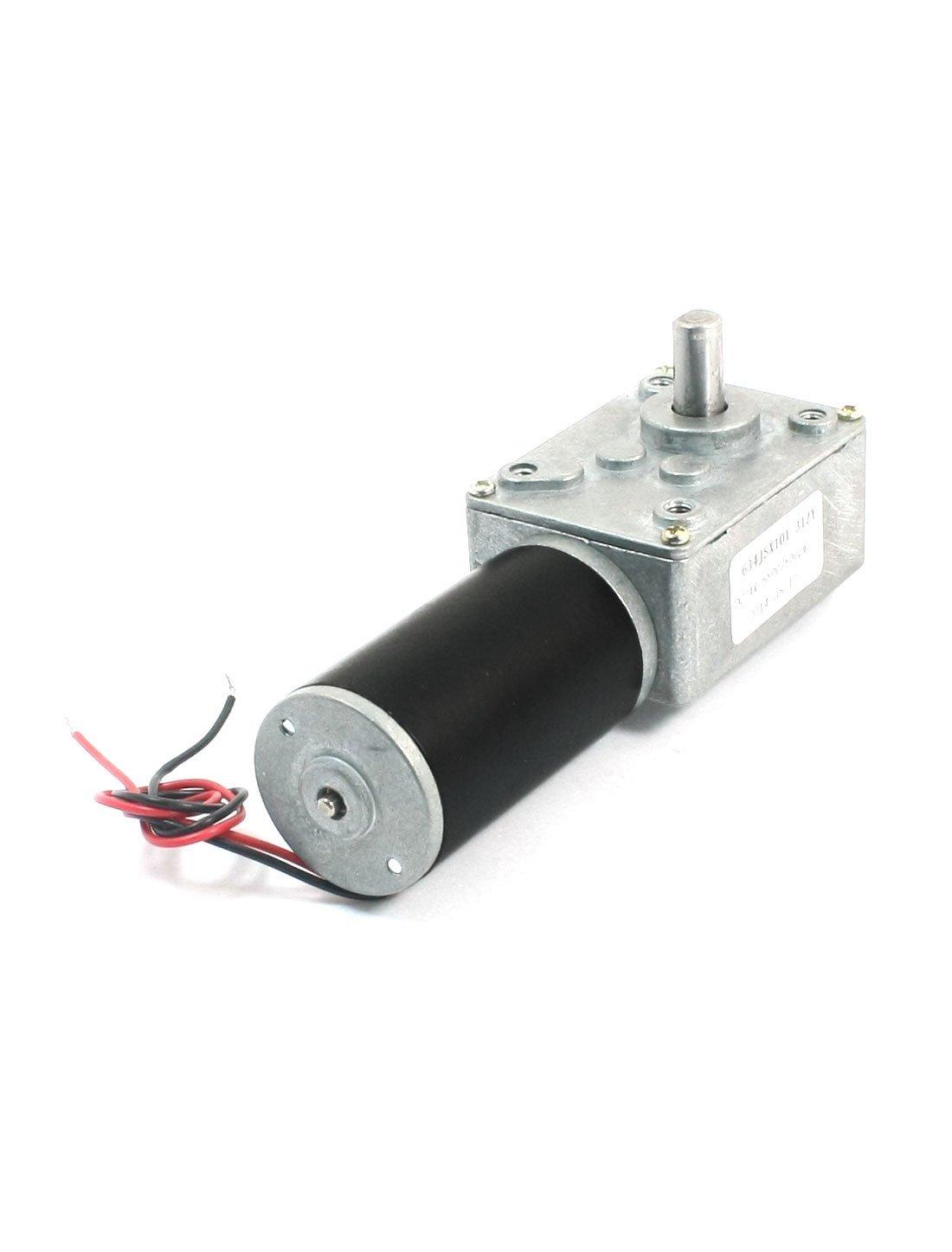 Amazon.com: eDealMax 19cm de Largo de Doble alambre de Plomo 5500/50 RPM Velocidad Reducir Worm Gear Motor DC24V: Electronics