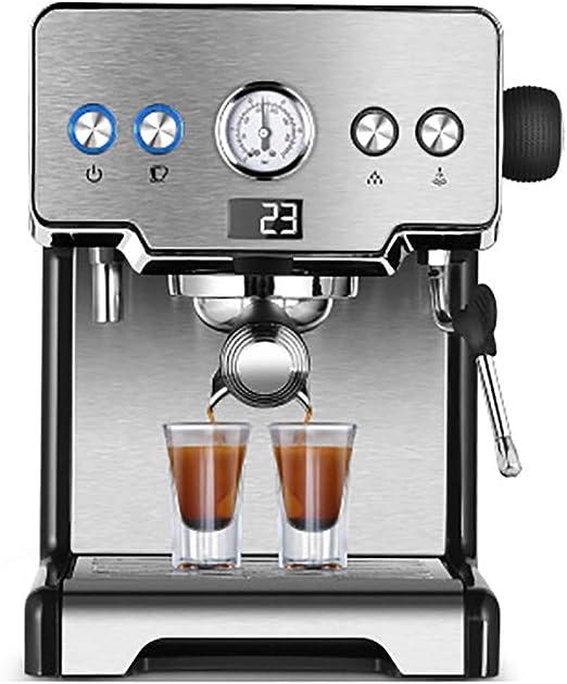 Cafetera con bomba, cafetera de filtro automático, café expreso capuchino multifunción, con barra de vapor incorporada, plata, tanque de agua de 1.7 l: Amazon.es: Hogar