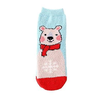 Ansenesna Calcetines Mujer NiñA Navidad MuñEco De Nieve Calcetines De Dibujos Animados AlgodóN CalcetíN (C