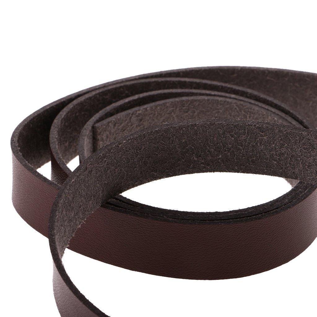 2 Meter Homyl 2 Meter Flach Lederband Lederriemen Lederb/änder 15 mm Kaffee// schwarz Kaffee