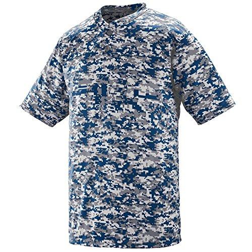 Augusta Sportswear MEN'S DIGI CAMO WICKING TWO-BUTTON JERSEY XL Navy Digi