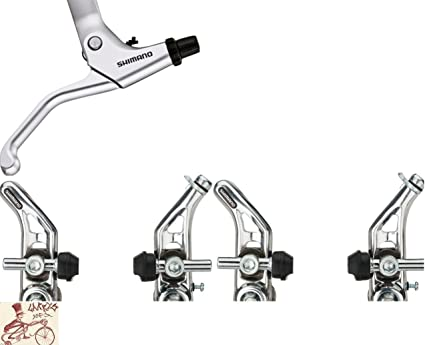 SHIMANO ALTUS CT91 REAR CANTILEVER SILVER BICYCLE BRAKE WITH LINK WIRE