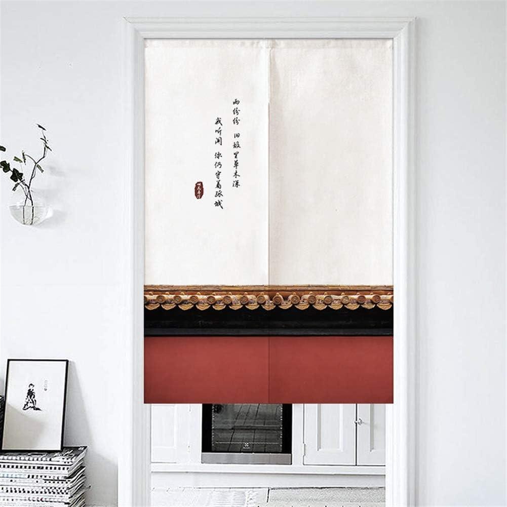 SK Studio Cortina De Puerta Japonesa Noren Cortina para Pasillo De La Cortina De la Entrada Cocina-Los Muros de La Ciudad Prohibida Tapiz 28