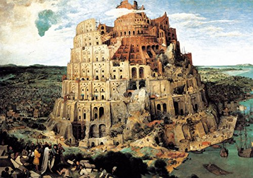 "Chamberart 1000 piece Premium Jigsaw Puzzles ""The Tower Of Babel"" A-1099 by Pieter Brueghel"