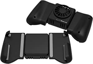 Leuna DarkWalker Call of Duty Mobile PUBG Mobile Game Controller,Fast Cooling Fan Phone Cooler Radiator Gamepad for iPhone/Samsung/Huawei Support 4-6.7 inches Smartphone