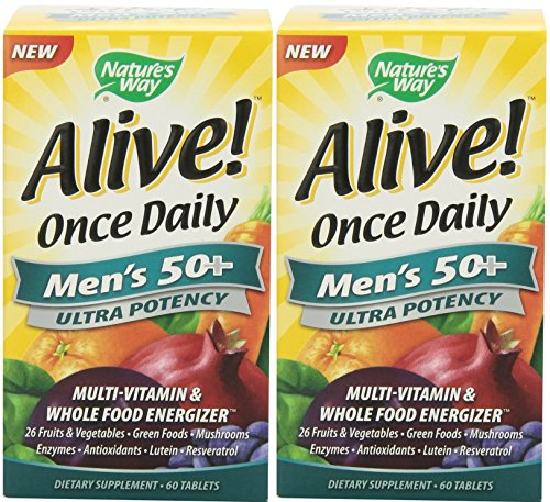 60 Tabs Way Natures - Nature's Way Alive Once Daily Men's 50+ Ultra Potency Tablets, 60 (2 Pack)