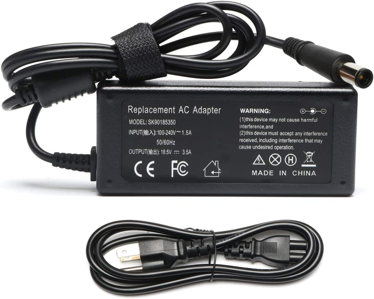 65W AC Adapter Laptop Charger Replacement for HP G42 G56 G60 G61 G62 G72 2000 Notebook PC 2000-2b19wm 2000-2b29wm 2000-2b09wm 2000-2d19wm 2000-329wm 2000-2d24dx