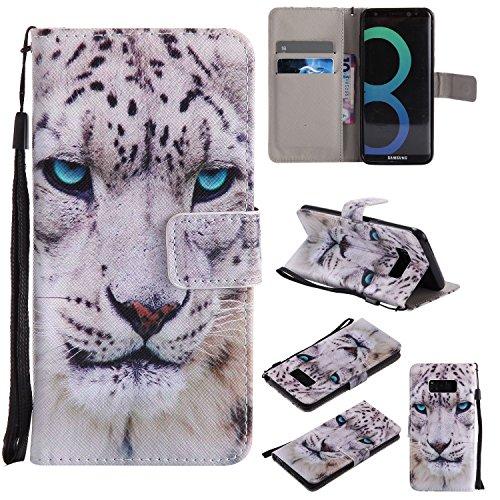 S7 Edge Case,Galaxy S7 Edge Wallet Case,Bat King Snow Leopard [Kickstand Flip][Credit Cards Slot][Cash Pockets][Slim Fit] Premium Leather Flip Wallet Case for Samsung Galaxy S7 Edge - Edge Snow Leopard