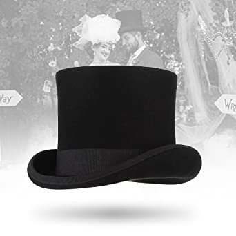 Cloudkids Men 100/% Wool Mad Hatter Hat Satin Lined Top Hats