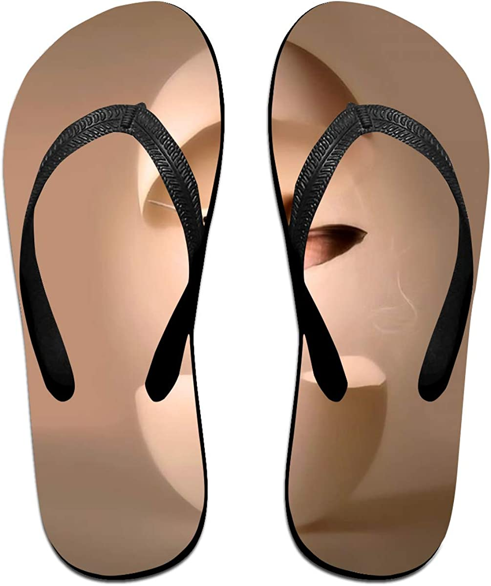 Couple Slipper Humming Bird Broken Out Print Flip Flops Unisex Chic Sandals Rubber Non-Slip Spa Thong Slippers