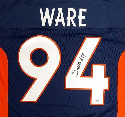 faf895512 Denver Broncos Demarcus Ware Autographed Blue Jersey PSA/DNA at ...