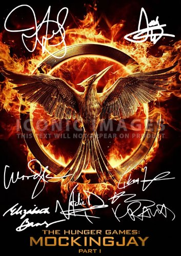"The Hunger Games Movie Print Jennifer Lawrence Woody Harrelson Liam Hemsworth Elizabeth Banks Lenny Kravitz Josh Hutcherson Natalie Dormer (11.7"" X 8.3"")"