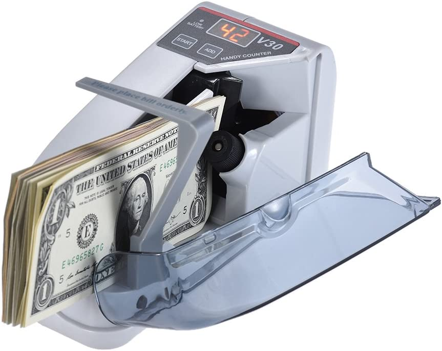 Aibecy V30 Contador de dinero portable 2 tipos de suministro de energía 100-240V