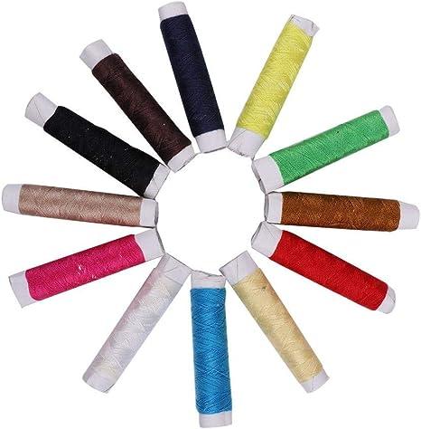 Colorido juego de hilos de coser a mano, 12 piezas/juego de hilo ...