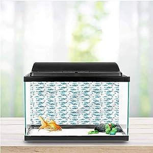 Stevenhome Shark Aquarium Photography Background Tropic Underwater World One Side Fish Tank