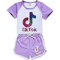 Tik Tok - Traje de sudor para niñas, sudadera con capucha tiktok, ropa para niños, chándal para niñas, conjunto de…