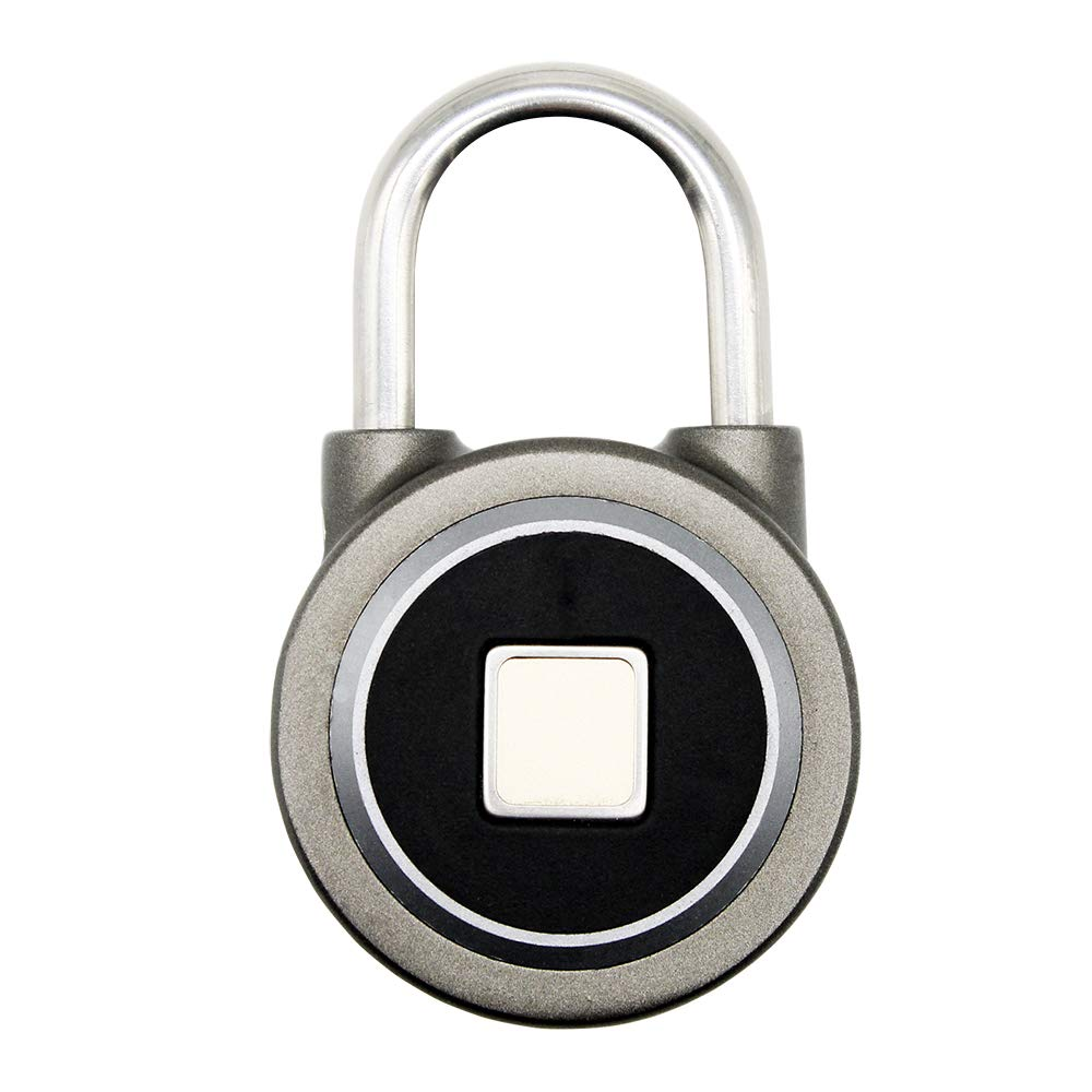 Eiechip Fingerprint Padlock, Bluetooth Connection Metal Waterproof, Suitable for House Door, Suitcase, Backpack, Gym, Bike, Office, APP is Suitable for Android/iOS, Support USB Charging