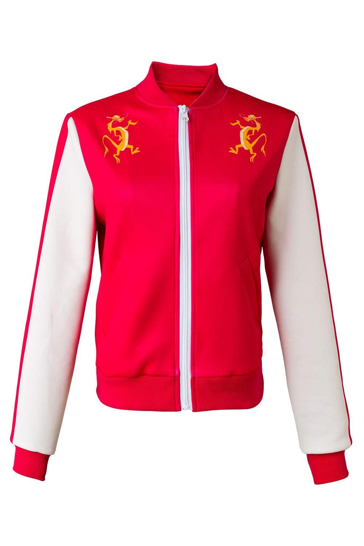 MingoTor Superheldin Mulan Jacke Cosplay Kostüm Maßanfertigung Rot L