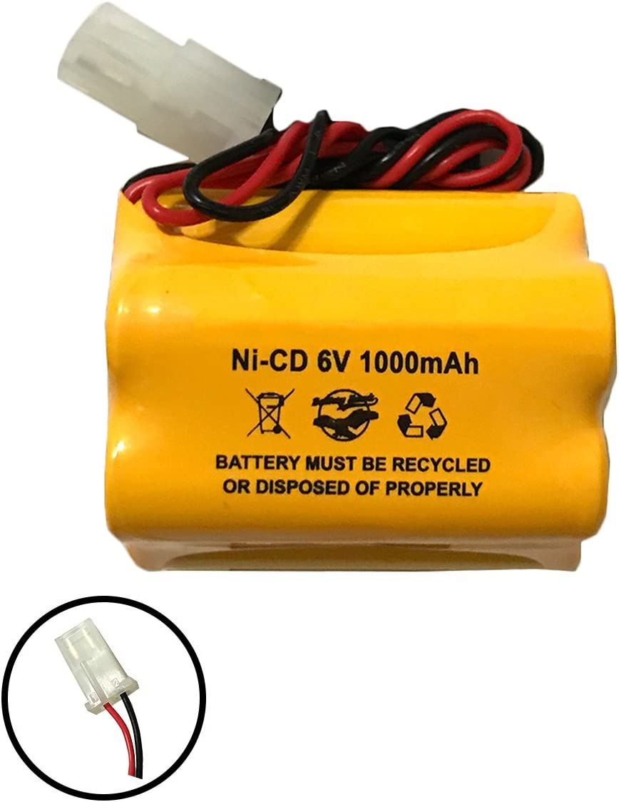 Aritech 10050205 60401005 Lithonia ENB-06006 ENB06006 Prescolite 6v 1000mAh Ni-CD Battery Pack Replacement for Exit Sign Emergency Light Sharp 51500RS CE140P E82082100