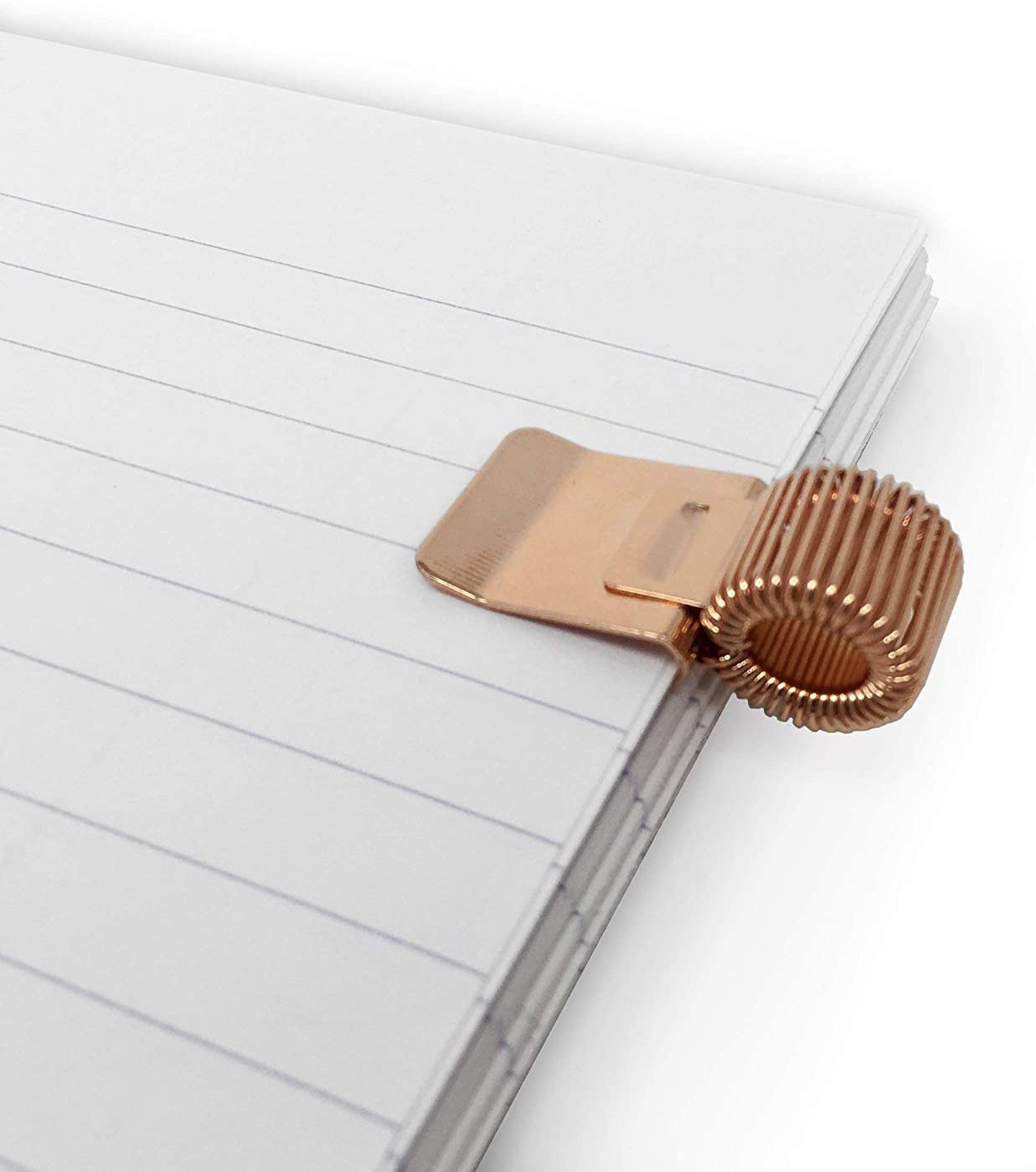 Ideal For Doctors//Nurses//Foreman//Office Metal Pen Clip Holder for Notebook//Clipboard//Journal//Diary Rose Gold Pack of 3