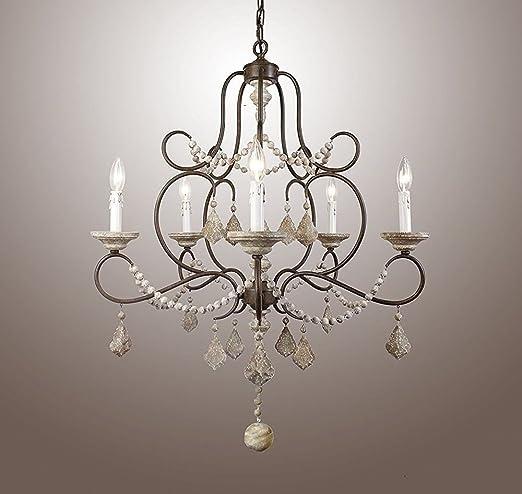 new arrival 43311 bb4cb 5 Light Crystal Chandelier Metal Frame Pendant Lamp 28 ...
