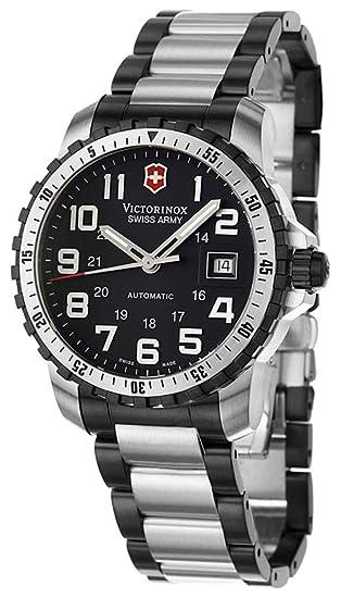 Victorinox Alpnach - Reloj analógico de caballero automático con correa de acero inoxidable multicolor - sumergible a 100 metros: Amazon.es: Relojes