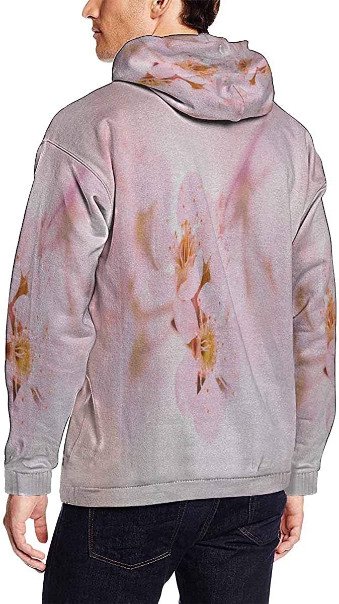 INTERESTPRINT Mens Spring Apple Blossoms Flowers Hoodies Sweatshirt