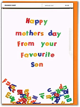 Funny Joke Mother/'s Day Card Best Son Comical Witty Banter Cheeky Hilarious Fun