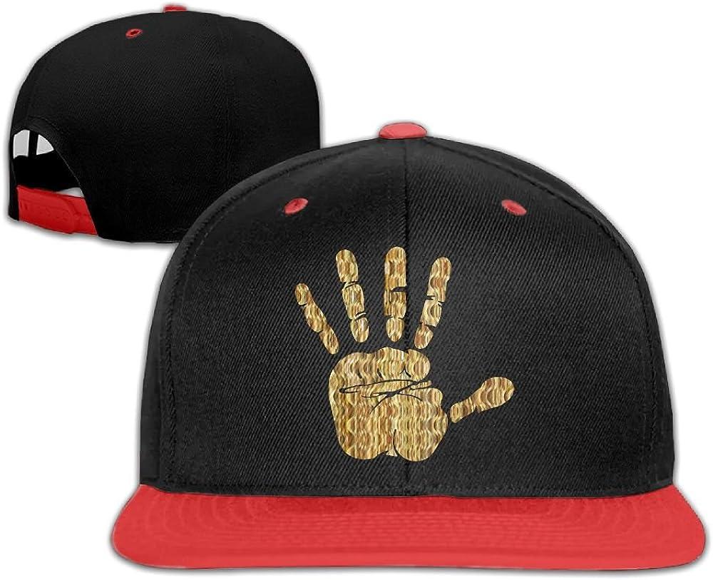 Hip Hop Caps Gold Hand Cotton Hats Adjustable Unisex Baseball Cap