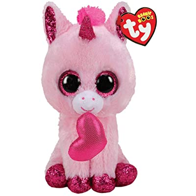 Ty TY36685 Beanie Boo's-Darling The Unicorn 15 cm, Multi-Coloured: Toys & Games