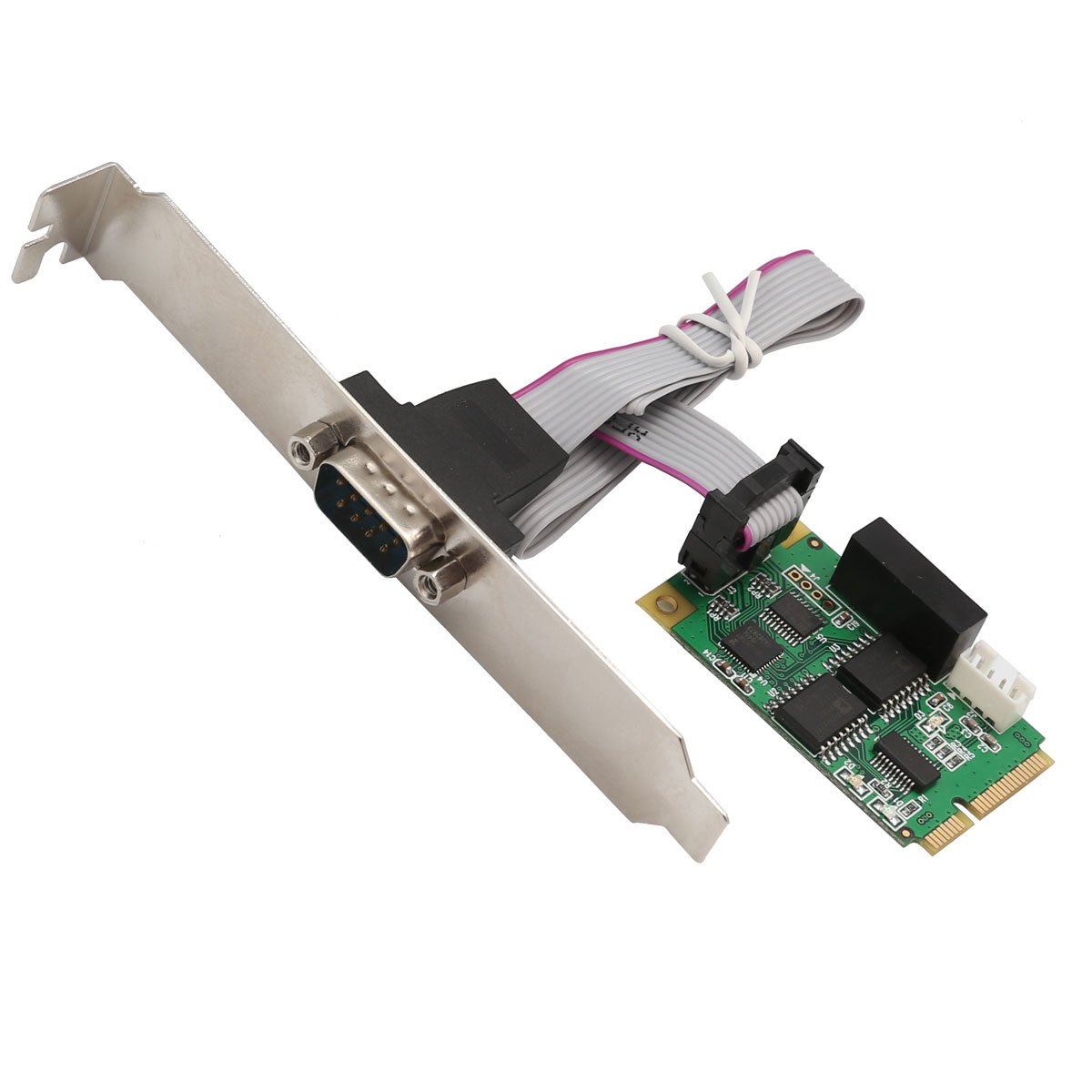 IO Crest SI-MPE15062 Full Size Mini PCIe Card or USB 2.0 1 Port Serial DB9 RS232/422/485 Adapter