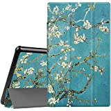 Fintie Slim Case for All-New Amazon Fire HD 10 Tablet (7th Generation, 2017 Release) - Ultra Lightweight Protective Stand Cover with Auto Wake/Sleep for Fire HD 10.1 Inch Tablet, Blossom