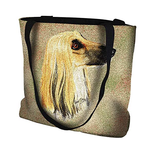 Pure Country Weavers Afghan Hound Hand Finished Large Woven Tote or Shoulder Bag with Magnetic Clasp 100% Cotton Double Sided Made in USA by Artisan Textile Mill 1