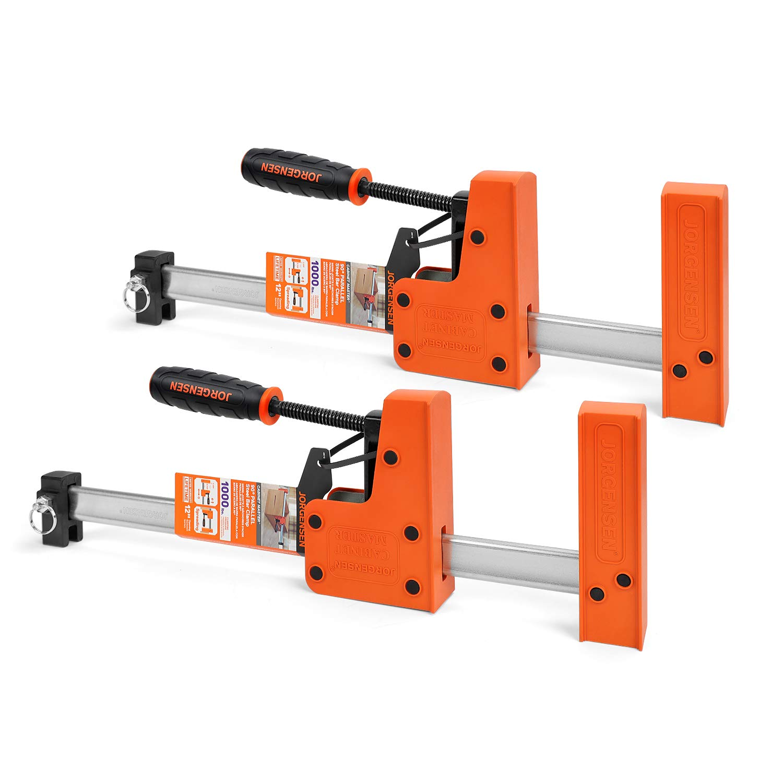Jorgensen 2-pack Parallel Jaw Bar Clamp Set - Cabinet Master, 12-inch