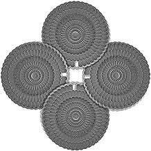 zanmini 4pcs Hot Pot Trivet Gray, for Hot Dishes,Insulation, Durable, Flexible Hot Pads,Pot Holders, Spoon Rest, Jar Opener