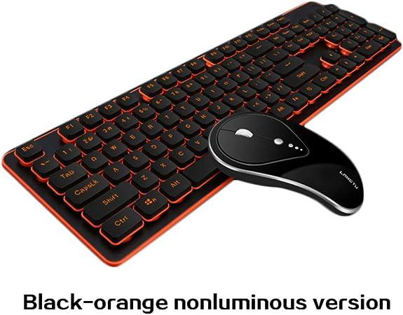 Wendapai - Teclado Gaming y ratón inalámbrico, con luz LED ...