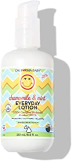 product image for California Baby Chamomile & Mint Everyday Lotion (8.5 Ounces) | 100% Plant-Based (excludes Water) | Moisturizer for Dry, Sensitive Skin | Post Bath and Diaper Changing