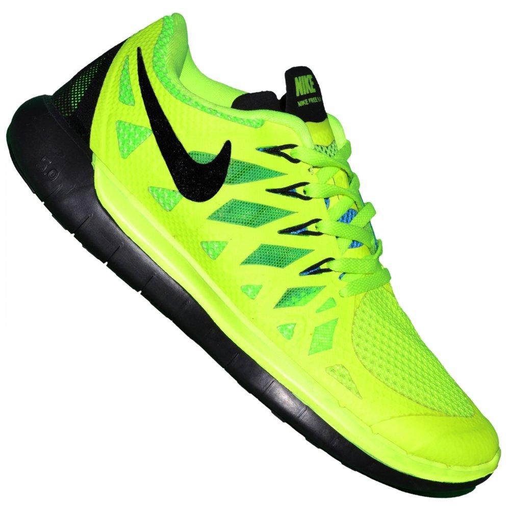 Nike Basket Running Femme Free Run 5.0 Jaune Fluo 46