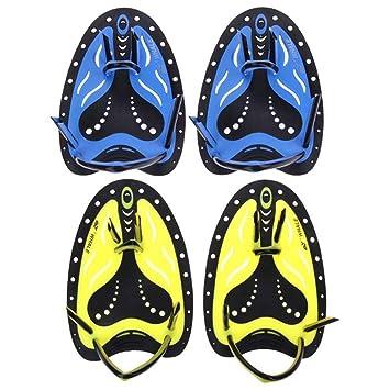Guantes de aguaAletas de natación que entrenan los guantes de silicona redondeados a mano. Aletas